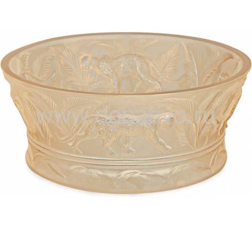 """Ваза для фруктов """"Jungle"""" золотая Lalique 10549400"""