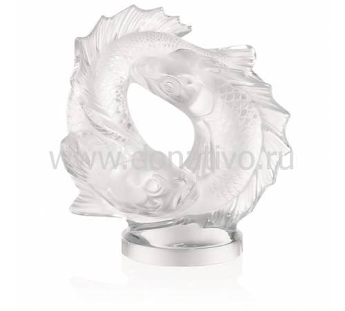 """Статуэтка """"Две рыбки"""" прозрачные Lalique 10571800"""
