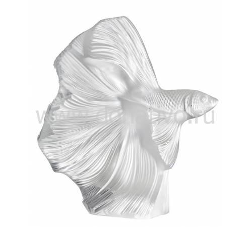 """Статуэтка прозрачная """"Бойцовая рыбка"""" Lalique 10685200"""