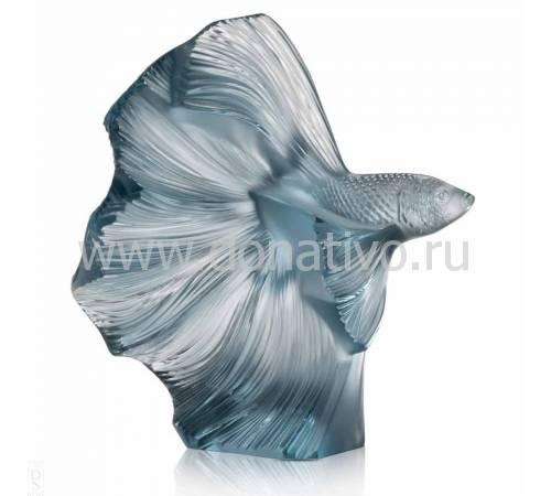 """Статуэтка малая/синяя """"Боевая рыба"""" Lalique 10672500"""